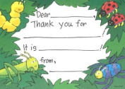 Kids Green Bugs Thank You, Fill-In Style, 8 Pack