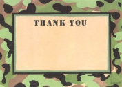 Boys Camouflage Thank You Cards, Fill-In Style, 8 Pack
