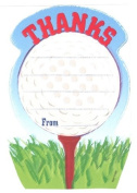 Boys Golf Thank You Cards, Fill-In Style, 8 Pack