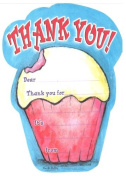 Kids Cupcake Thank You Cards, Fill-In, 8 Pack