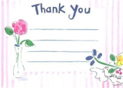 Girls Tea Time Thank You Cards, Fill-In Style, 8 Pack