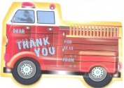 Kids Firetruck Thank You Cards, Fill-In Style, 8 Pack