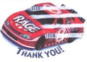 Boys Racecar Thank You Cards, Fill-In Style, 8 Pack