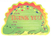 Boys Stegosaurus Thank You Cards, Fill-In Style, 8 Pack