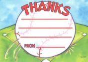 Boys Softball Thank You Cards, Fill-In Style, 8 Pack