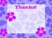 Girls Luau Thank You Cards, Fill-In Style, 8 Pack