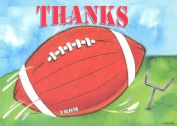 Boys Football Thank You Cards, Fill-In Style, 8 Pack