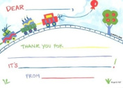 Kids Train Thank You Cards, Fill-In Style, 8 Pack