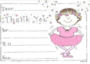 Girls Ballerina Thank You Cards, Fill-In Style, 8 Pack