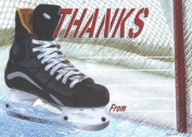 Boys Hockey Thank You Cards, Fill-In Style, 8 Pack