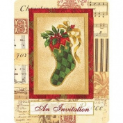 Elegant Stocking Christmas Invitations 20ct