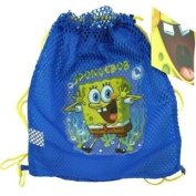 Nickelodeon Sponge Bob Sling Tote Bag Net Front with PVC Character