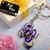 Wedding Favours Murano Collection cross key chain favours