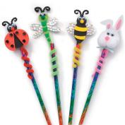 Foam Group Kit, Makes 12, Pencil Topper Critters, 24cm