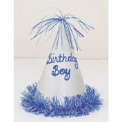 Bday Boy Glitter Party Hat
