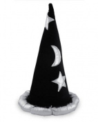 Silver and Black Wizard Hat SILV