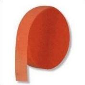 Orange Crepe Paper Streamer | 4.4cm . x 500 ft.
