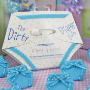 The Dirty Nappy Game - Baby Shower Game - Blue