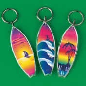 Lot of 12 Surfboard Keychains Luau Pool Party Favours