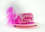 Touch of Nature 50289 Birthday Girl Mini Top Hat, Light Pink Hat