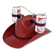 Big Mouth Toys Cowboy Beer Hat - Brown