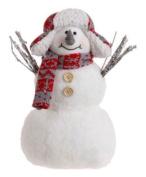 Raz 25cm Snowman Wearing Snowboarder Hat