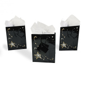 Small Gold Star Gift Bags