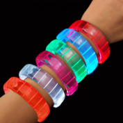 Fashion LED Bracelets in Assorted Colours, Set of 12