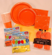 Sunrise Collection - Orange and Yellow - Party Supply Pack for 12