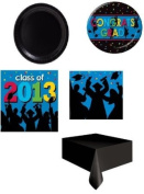 Graduation Party Pack for 16 ~ 2013 Grad Silhouettes ~ Plates, Napkins, Cups and Tablecloth