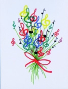 Music Treasures Co. Bouquet of Notes Stationery Cards