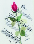Music Treasures Co. Rose Stationery