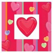Valentine's Day Lunch Napkins - Valentines Day Party - Valentines Hearts Napkins