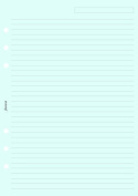Filofax Papers Ruled Notepaper, Blue A5 - FF-343001