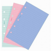 Filofax Papers Ruled Notepaper, Fashion Colours Mini Size - FF-513507