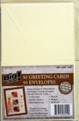 50 Blank Greeting Cards /Note Cards / Invitations & Envelopes 10cm x13cm ~Ivory