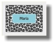 Paparte Note Cards Leopard Name 701