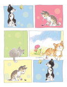 Suzy's Note Card Collection Stationery, Six Happy, Curious Cats - 10866