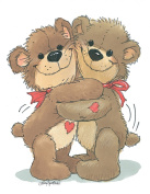 Suzy's Valentines Card Collection Stationery, Rowf and Lovey Valentine's Hug - 10861