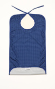 Clothing Protector/Bib Long Length Blue with Crumb Catcher