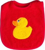 Smithy Fashion 112122 'Duck' Bib with Sleeves 21 x 23 cm Red