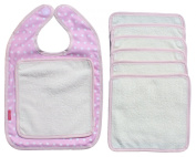 Ideenreich 1997-1 Bib 'Wipe Away Smudges' Polka Dots Pink