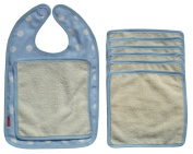 Ideenreich 2006-1 Bib 'Wipe Away Smudges' Polka Dots Blue
