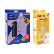 Combo Podee Baby Bottle - Double Pack Complete Handsfree Feeding System + Convert-A-Bottle Handsfree Feeding Kit