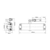 Dorma TS68 Overhead Door Closer Size 2-4