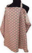 Palm and Pond Breastfeeding Cover Grey with Pink Spots - Large