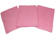 Muslinz Premium Muslin Squares 100% Cotton Supersoft High Quality x 7.6cm PINK