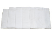 Muslinz Premium Muslin Squares 100% Cotton Supersoft High Quality x 15cm WHITE