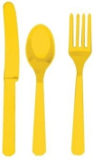 Sunshine Yellow Cutlery Set