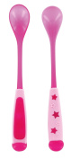 dBb-Remond 218328 Spoons with Long Handles Set of 2 Translucent Pink